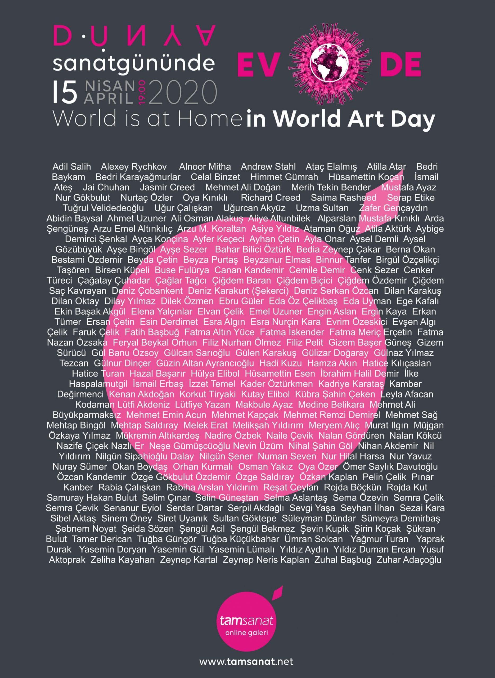 2020 Dünya Sanat Günü Online Sergi sanatçılar
