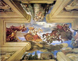 Guercino, Aurora, Fresco, Casino Ludovisi (Roma), 1621 quadratura