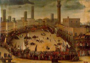 Piazza del Campo, tournament of allegori