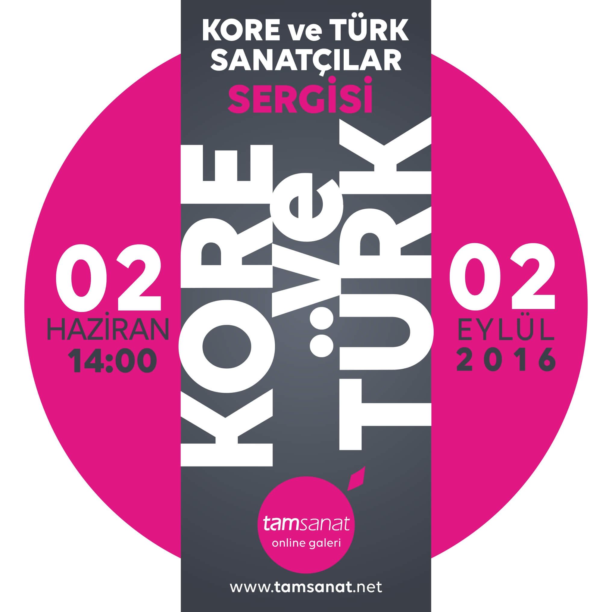 kore ve türk sanatçılar sergisi afişi